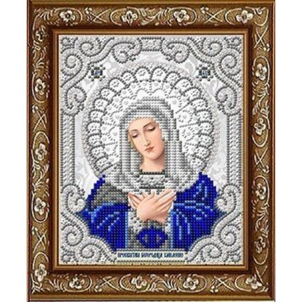 Рисунок на ткани ЖС-5020 Св. Богородица Умиление  в жемчуге (арт. ЖС-5020)