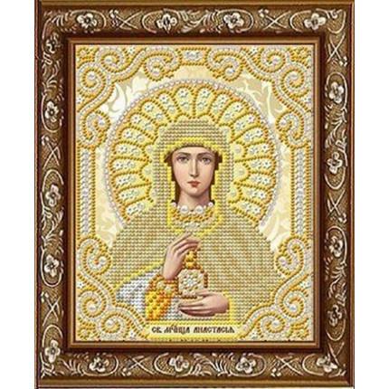 Рисунок на ткани ЖС-5021 Св. Мученица Анастасия  в жемчуге (арт. ЖС-5021)