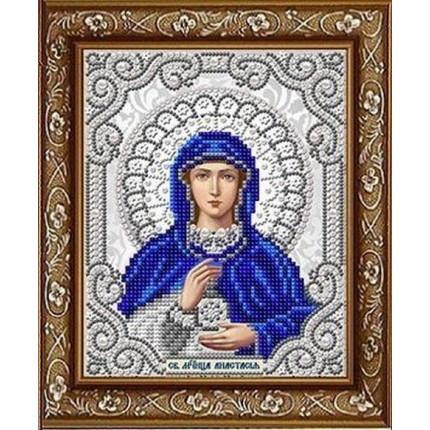 Рисунок на ткани ЖС-5022 Св. Мученица Анастасия  в жемчуге (арт. ЖС-5022)