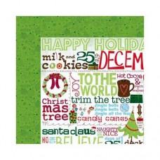 "Лист бумаги ""Mistletoe Greetings"" (арт. 13001294)"