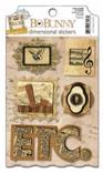 """Bo Bunny 489 Стикеры-украшения BoBunny для скрапбукинга """"Еt cetera Dimensional Stickers"""""""