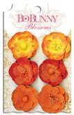 """Bo Bunny 73 Бумажные цветы 11411473  """"Harvest Orange Pansy"""""""