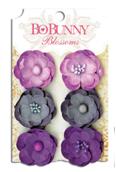 "Bo Bunny 75 Бумажные цветы 11411475 ""Plum Purple Pansy"""