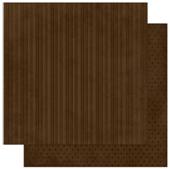 "Bo Bunny арт 12CS322 Бумага для скрапбукинга  BoBunny  размер 31х31см (арт 12CS322, коллекция ""Coffee Stripe"")"