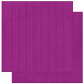 "Bo Bunny арт 12GS346 Бумага для скрапбукинга  BoBunny  размер 31х31см (арт 12GS346, коллекция "" Grape Stripe"")"