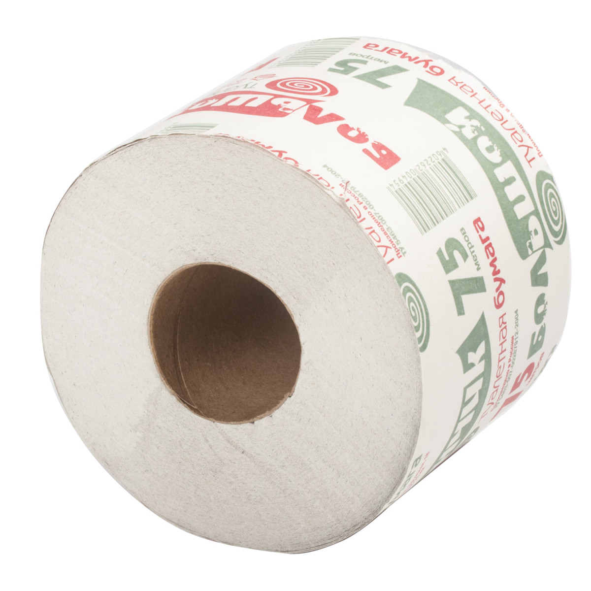 """Бумага туалетная бытовая 75 м, на втулке (эконом), """"Рулончик большой"""" ВЫВОДИТСЯ, ЗАМЕНА -> 113357"""