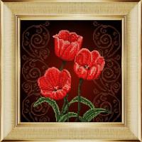 "БОЖЬЯ КОРОВКА 0009БК Рисунок на ткани ""Тюльпаны"" 0009БК"