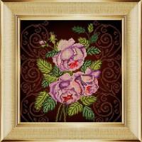 """БОЖЬЯ КОРОВКА 0023БК Рисунок на ткани """"Бархатная роза"""" 0023БК"""