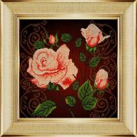 """БОЖЬЯ КОРОВКА 0024БК Рисунок на ткани """"Чайная роза"""" 0024БК"""