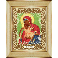 """БОЖЬЯ КОРОВКА 0053БК Рисунок на ткани «Божья коровка» 0053 """"Богородица Милостивая"""" 20х25 см ,"""