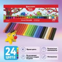 """Brauberg 103351 Пластилин классический BRAUBERG """"МАГИЯ ЦВЕТА"""", 24 цвета, 500 г, ВЫСШЕЕ КАЧЕСТВО, картонная упаковка, 103351"""