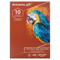 "Brauberg 105922 Альбом для пастели, картон ""ТЕРРАКОТА"" тонированный 630 г/м2, 207x297 мм, 10 л., BRAUBERG CLASSIC, 105922"