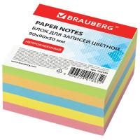 Brauberg 122339 Блок для записей BRAUBERG непроклеенный, куб 9х9х5 см, цветной, 122339