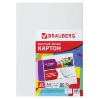 Brauberg 124021 Картон белый А4 МЕЛОВАННЫЙ (глянцевый), 25 листов, в пленке, BRAUBERG, 210х297 мм, 124021