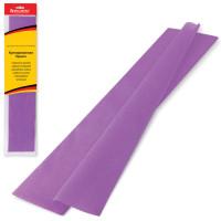 Brauberg 124733 Бумага гофрированная (креповая) СТАНДАРТ, 25 г/м2, фиолетовая, 50х200 см, европодвес, BRAUBERG, 124733