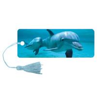 """Brauberg 125749 Закладка для книг 3D, BRAUBERG, объемная c движением """"Дельфин"""", с декоративным шнурком-завязкой, 125749"""