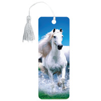 "Brauberg 125753 Закладка для книг 3D, BRAUBERG, объемная, ""Белый конь"", с декоративным шнурком-завязкой, 125753"