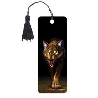 "Brauberg 125756 Закладка для книг 3D, BRAUBERG, объемная, ""Волк"", с декоративным шнурком-завязкой, 125756"