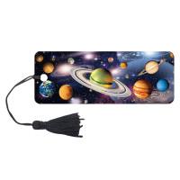 "Brauberg 125757 Закладка для книг 3D, BRAUBERG, объемная, ""Вселенная"", с декоративным шнурком-завязкой, 125757"