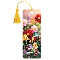 """Brauberg 125777 Закладка для книг 3D, BRAUBERG, объемная, """"Цветы"""", с декоративным шнурком-завязкой, 125777"""