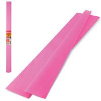 Brauberg 126532 Бумага гофрированная (креповая) ПЛОТНАЯ, 32 г/м2, розовая, 50х250 см, в рулоне, BRAUBERG, 126532