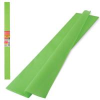 Brauberg 126536 Бумага гофрированная (креповая) ПЛОТНАЯ, 32 г/м2, светло-зеленая, 50х250 см, в рулоне, BRAUBERG, 126536