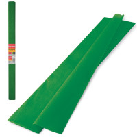 Brauberg 126537 Бумага гофрированная (креповая) ПЛОТНАЯ, 32 г/м2, темно-зеленая, 50х250 см, в рулоне, BRAUBERG, 126537