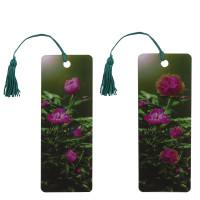 """Brauberg 128099 Закладка для книг с линейкой, 3D-объемная, BRAUBERG """"Цветы"""", с декоративным шнурком, 128099"""
