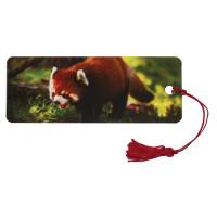 "Brauberg 128103 Закладка для книг с линейкой, 3D-объемная, BRAUBERG ""Красная панда"", с декоративным шнурком, 128103"