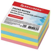 Brauberg 129199 Блок для записей BRAUBERG проклеенный, 9х9х5 см, цветной, 129199