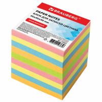 Brauberg 129207 Блок для записей BRAUBERG проклеенный, куб 9х9х9 см, цветной, 129207