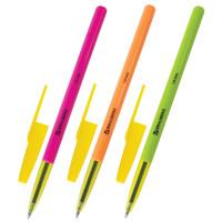 """Brauberg 141507 Ручка шариковая BRAUBERG """"Color"""", СИНЯЯ, корпус ассорти, узел 1 мм, линия письма 0,5 мм, 141507"""