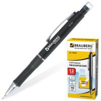 """Brauberg 180286 Карандаш механический BRAUBERG """"Modern"""", корпус черный, резиновый грип, ластик, 0,5 мм, 180286"""