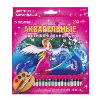 "Brauberg 180569 Карандаши цветные акварельные BRAUBERG ""Rose Angel"", 24 цвета, заточенные, картонная упаковка, 180569"