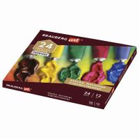 Brauberg 191457 Краски масляные художественные BRAUBERG ART PREMIERE, 24 цвета по 12 мл, профессиональная серия, в тубах, 191457