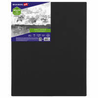 Brauberg 191651 Холст на подрамнике черный BRAUBERG ART CLASSIC, 40х50см, 380 г/м, хлопок, мелкое зерно, 191651