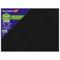 Brauberg 191678 Холст черный на МДФ, BRAUBERG ART CLASSIC, 25*35см, грунтованный, 100% хлопок, мелкое зерно, 191678