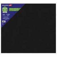 Brauberg 191680 Холст черный на МДФ, BRAUBERG ART CLASSIC, 40*50см, грунтованный, 100% хлопок, мелкое зерно, 191680