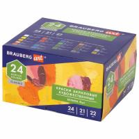 Brauberg 191722 Краски акриловые художественные BRAUBERG ART CLASSIC, НАБОР 24 шт, 21 цвет, в тубах 22 мл, 191722