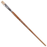 Brauberg 200719 Кисть художественная профессиональная BRAUBERG ART CLASSIC, щетина, плоская, № 14, длинная ручка, 200719
