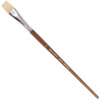 Brauberg 200722 Кисть художественная профессиональная BRAUBERG ART CLASSIC, щетина, плоская, № 20, длинная ручка, 200722