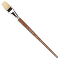 Brauberg 200726 Кисть художественная профессиональная BRAUBERG ART CLASSIC, щетина, плоская, № 30, длинная ручка, 200726