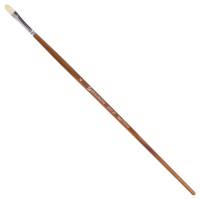 Brauberg 200729 Кисть художественная профессиональная BRAUBERG ART CLASSIC, щетина, овальная, № 6, длинная ручка, 200729