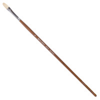 Brauberg 200730 Кисть художественная профессиональная BRAUBERG ART CLASSIC, щетина, овальная, № 8, длинная ручка, 200730