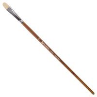 Brauberg 200731 Кисть художественная профессиональная BRAUBERG ART CLASSIC, щетина, овальная, № 10, длинная ручка, 200731