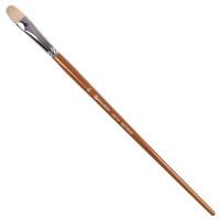 Brauberg 200734 Кисть художественная профессиональная BRAUBERG ART CLASSIC, щетина, овальная, № 16, длинная ручка, 200734