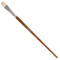 """Brauberg 200735 Кисть художественная профессиональная BRAUBERG ART """"CLASSIC"""", щетина, овальная, № 18, длинная ручка, 200735"""