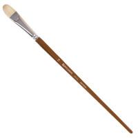 Brauberg 200735 Кисть художественная профессиональная BRAUBERG ART CLASSIC, щетина, овальная, № 18, длинная ручка, 200735