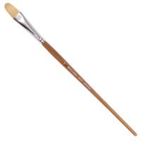 Brauberg 200737 Кисть художественная профессиональная BRAUBERG ART CLASSIC, щетина, овальная, № 22, длинная ручка, 200737