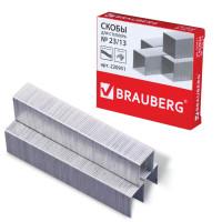 Brauberg 220951 Скобы для степлера №23/13, 1000 штук, BRAUBERG, от 30 до 80 листов, 220951